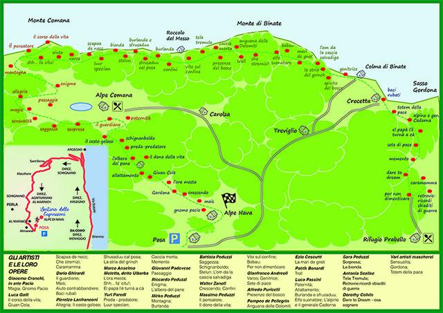 cartina sentiero